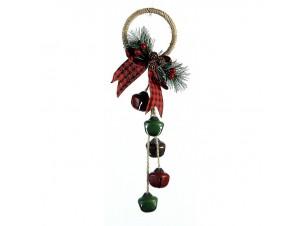 Μεταλλικό Χριστουγεννιάτικο κρεμαστό καμπανάκια 33 εκ.