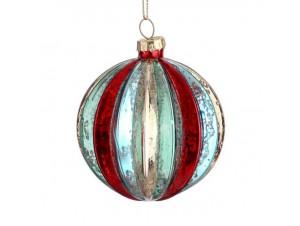 Χριστουγεννιάτικη πολύχρωμη μπάλα διακόσμησης 8 εκ.