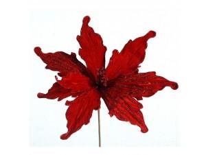 Χριστουγεννιάτικο διακοσμητικό λουλούδι αλεξανδρινό 79 εκ.