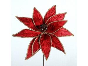 Χριστουγεννιάτικο κόκκινο διακοσμητικό λουλούδι 85 εκ.