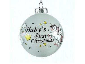Χριστουγεννιάτικη παιδική μπάλα διακόσμησης 8 εκ.