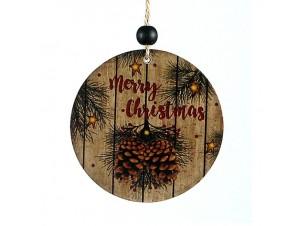 Χριστουγεννιάτικο ξύλινο στολίδι διακόσμησης 10 εκ.