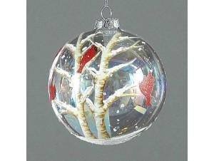 Χριστουγεννιάτικη ζωγραφισμένη μπάλα διακόσμησης 10 εκ
