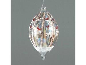 Χριστουγεννιάτικη ζωγραφισμένη μπάλα διακόσμησης 17 εκ