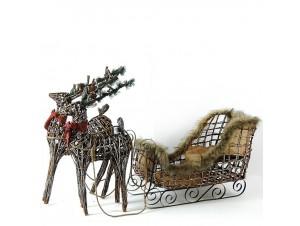 Χριστουγεννιάτικο έλκηθρο με ελάφια 110 εκ.