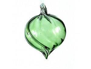 Χριστουγεννιάτικη πράσινη μπάλα διακόσμησης 6 εκ.