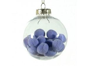 Χριστουγεννιάτικη με γέμισμα μπάλα διακόσμησης 8 εκ.