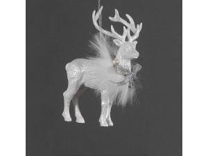Χριστουγεννιάτικο κρεμαστό στολίδι ελάφι 12 εκ.