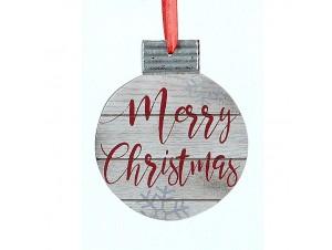 Χριστουγεννιάτικο ξύλινο κρεμαστό στολίδι