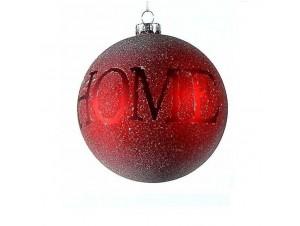 Κόκκινη Χριστουγεννιάτικη μπάλα διακόσμησης 8 εκ.