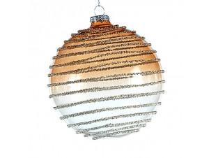 Χρυσή Χριστουγεννιάτικη γυάλινη μπάλα 12 εκ.
