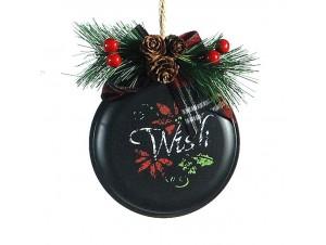 Χριστουγεννιάτικο μεταλλικό στολίδι δέντρου