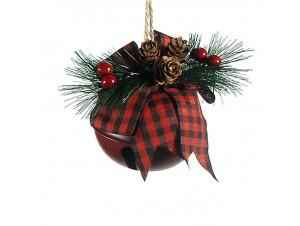 Χριστουγεννιάτικο μεταλλικό κουδουνάκι στολίδι