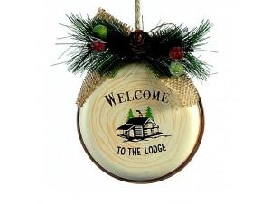 Χριστουγεννιάτικο μεταλλικό μπεζ στολίδι