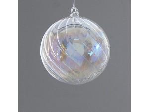 Χριστουγεννιάτικη γυάλινη μπάλα διακόσμησης 6 εκ.