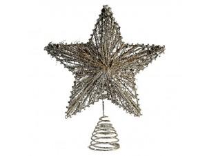 Χρυσή κορυφή Χριστουγεννιάτικου δέντρου 25 εκ.