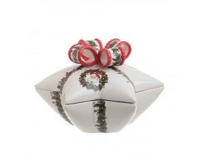 Χριστουγεννιάτικη μπισκοτιέρα σε σχήμα αστέρι 26,5 x 23 x 17 εκ.