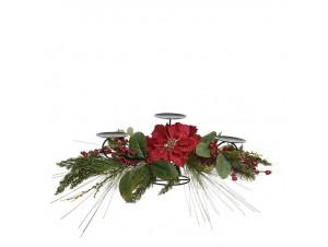 Χριστουγεννιάτικο διακοσμητικό κηροπήγιο με αλεξανδρινό