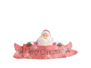 Φωτιζόμενο Χριστουγεννιάτικο επιτραπέζιο διακοσμητικό Άγιος Βασίλης 60 x 20 x 29 εκ.