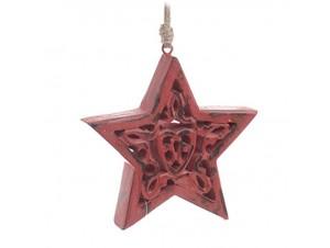 Χριστουγεννιάτικο κόκκινο διακοσμητικό στολίδι 15 εκ.