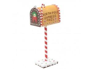 Διακοσμητικό Χριστουγεννιάτικο γραμματοκιβώτιο ζαχαρωτό 14,5 x 9 x 35 εκ.