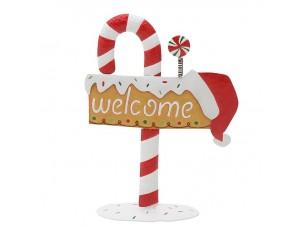 Χριστουγεννιάτικη διακοσμητική πινακίδα ζαχαρωτό 45 x 16 x 61 εκ.
