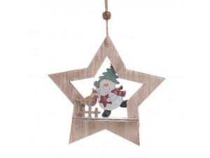 Χριστουγεννιάτικο κρεμαστό στολίδι δέντρου 15 x 1 x 36 εκ.