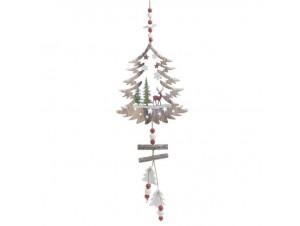 Κρεμαστό ξύλινο Χριστουγεννιάτικο στολίδι 46 x 58 εκ.
