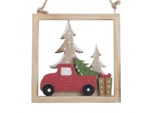 Χριστουγεννιάτικο διακοσμητικό καδράκι 15 x 2 x 16 εκ.
