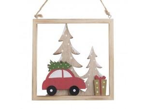 Χριστουγεννιάτικο διακοσμητικό καδράκι 20 x 2 x 21 εκ.