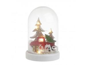 Φωτιζόμενη Χριστουγεννιάτικη χιονόμπαλα 11 x 17 εκ.