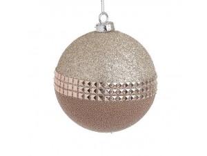 Χρυσή διακοσμητική μπάλα Χριστουγέννων 10 εκ.