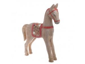 Χριστουγεννιάτικο ξύλινο διακοσμητικό αλογάκι 33 x 7,5 x 40 εκ.