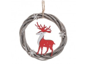 Χριστουγεννιάτικο Ξύλινο στολίδι δέντρου 15 εκ.