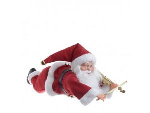 Χριστουγεννιάτικος κρεμαστός Άγιος Βασίλης 50 εκ.