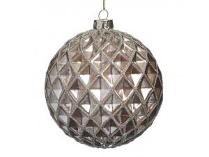 Χριστουγεννιάτικη χρυσή μπάλα διακόσμησης 10 εκ.