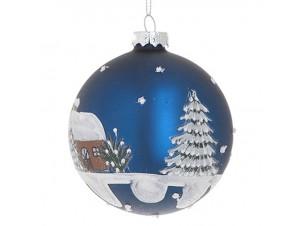 Χριστουγεννιάτικη ζωγραφιστή μπάλα διακόσμησης 8 εκ.