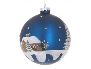 Χριστουγεννιάτικη ζωγραφιστή μπάλα διακόσμησης 10 εκ.