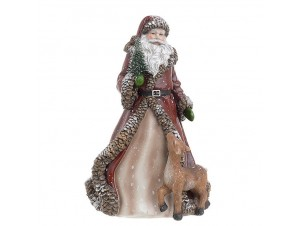 Χριστουγεννιάτικος διακοσμητικός Άγιος Βασίλης 16,5 x 13,5 x 24 εκ.