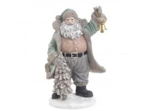 Χριστουγεννιάτικος διακοσμητικός Άγιος Βασίλης 13 x 12,5 x 21 εκ.