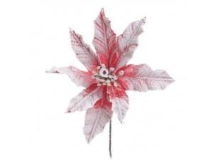 Χριστουγεννιάτικο διακοσμητικό λουλούδι 33 εκ.