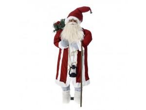 Φωτιζόμενος Χριστουγεννιάτικος διακοσμητικός Άγιος Βασίλης 120 εκ.