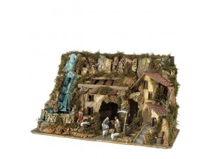 Χριστουγεννιάτικη φάτνη διακόσμησης 75 x 36 x 42 εκ.