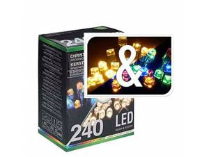 240 LED Λαμπάκια θερμά και πολύχρωμα, IP44 εξωτερικού χώρου