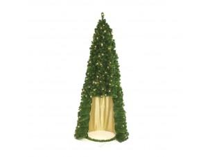 Χριστουγεννιάτικο Δέντρο κώνος με λαμπάκια 2,40 μ.
