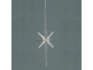 Γυάλινο διάφανο κρεμαστό Χριστουγεννιάτικο στολίδι 20 εκ.