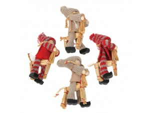 Set 4 τεμ. Κουκλάκια λούτρινα σε ξύλινο αλογάκι, 00 εκ