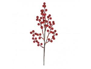 Κόκκινο Χριστουγεννιάτικο Κλαδί με Berries 55 εκ.