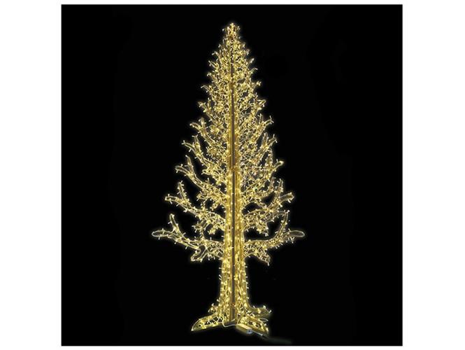 Led Flash Χριστουγεννιάτικο μισό δέντρο 2.00 x 4.00 μ. και 684 Led IP 44