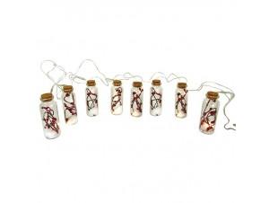 Χριστουγεννιάτικα γυάλινα φωτάκια μπουκαλάκια 20 x 14 εκ.
